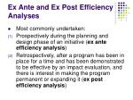 ex ante and ex post efficiency analyses
