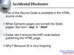 accidental disclosure