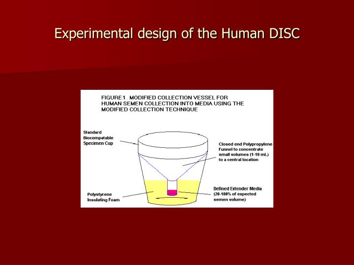 Experimental design of the Human DISC