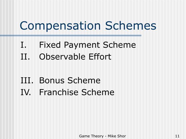 Compensation Schemes