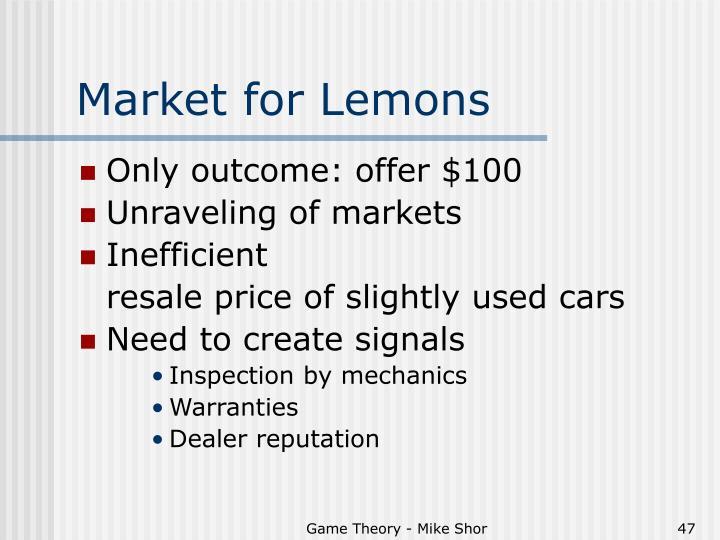 Market for Lemons