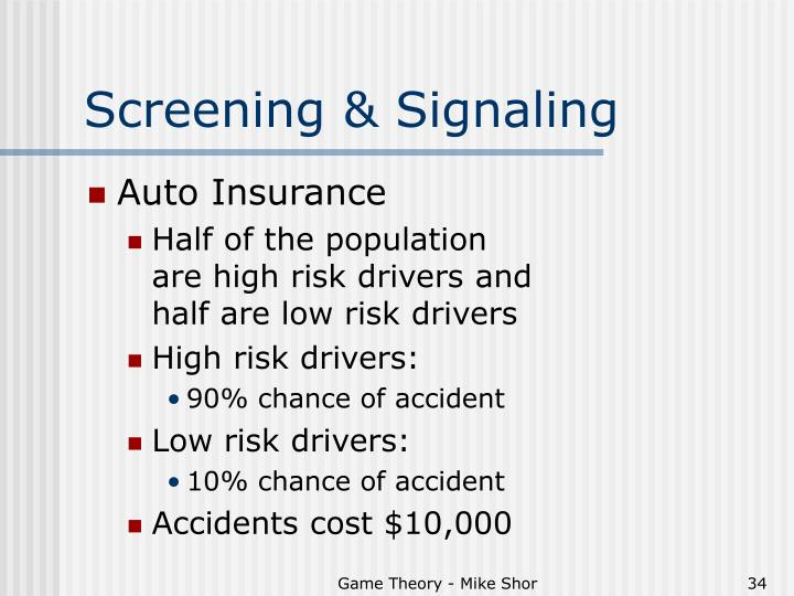 Screening & Signaling