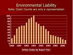 environmental liability note claim counts are only a representation