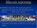 silicosis reporting