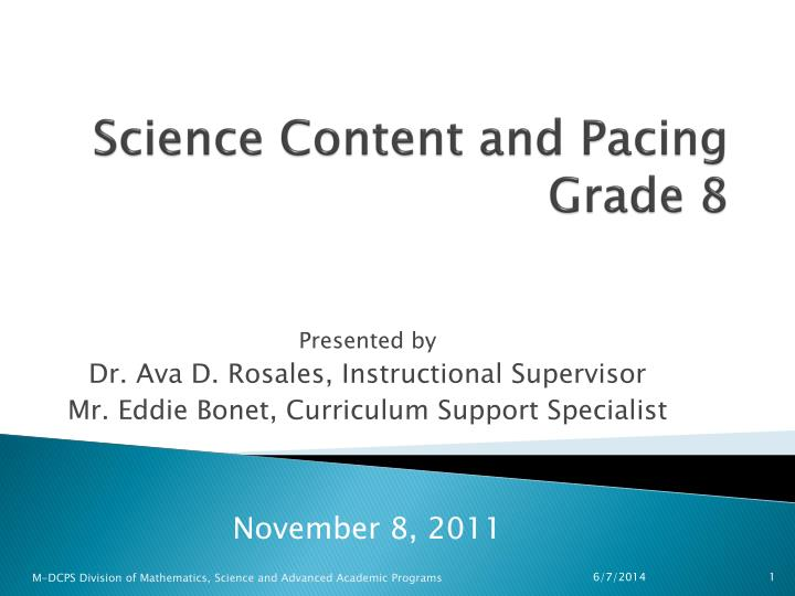 science content and pacing grade 8