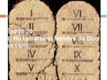 xodo 20 3 no tomar s el nombre de dios en vano