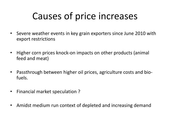 Causes of price increases
