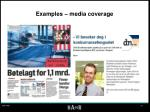 examples media coverage