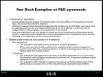 new block exemption on r d agreements
