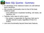 basic sql queries summary