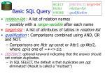 basic sql query