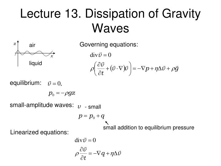 lecture 13 dissipation of gravity waves n.