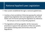 national applied laws legislation
