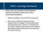 oshc learning framework