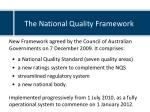 the national quality framework