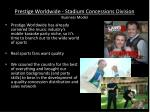 prestige worldwide stadium concessions division business model