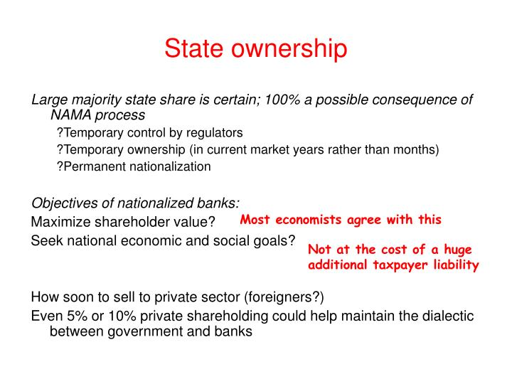 State ownership