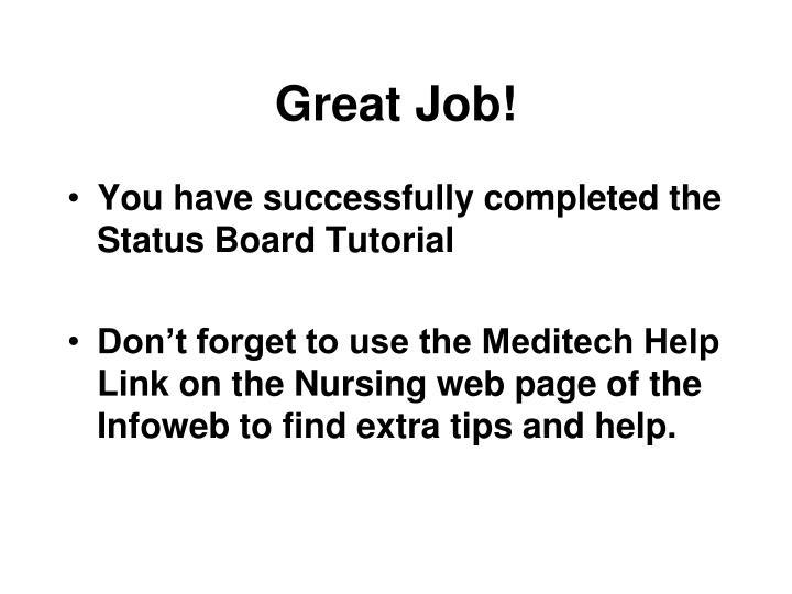Great Job!