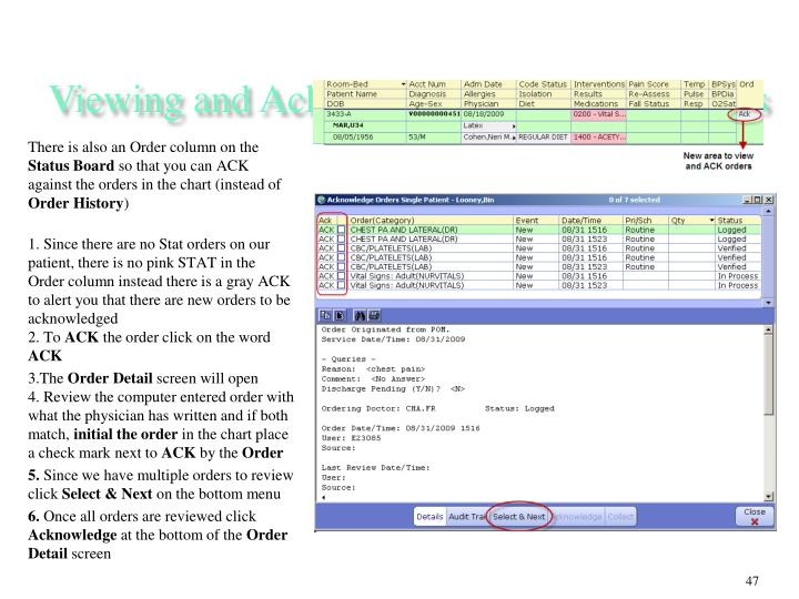 Viewing and Acknowledging Routine Orders