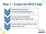 step 1 create the mvc3 app