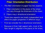 fiber orientation distribution