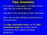 fiber orientation