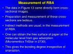 measurement of rba