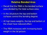 relative bonded area