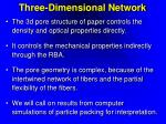 three dimensional network