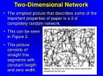 two dimensional network