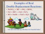 examples of real double replacement reactions
