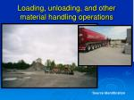 loading unloading and other material handling operations