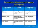 preventative maintenance program description