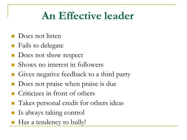 An Effective leader