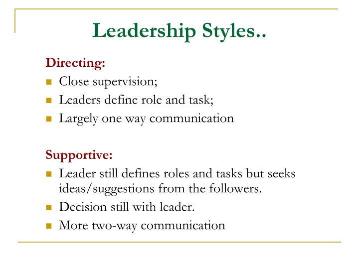 Leadership Styles..