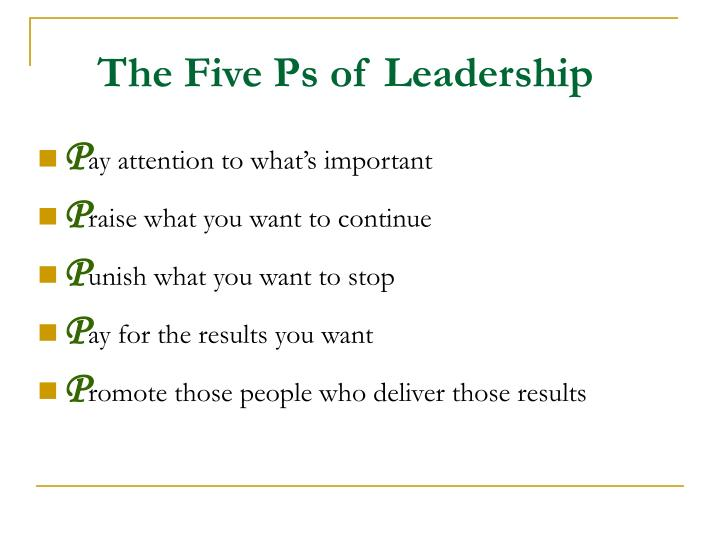 The Five Ps of Leadership