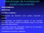 metodolog a de investigaci n juridica documental