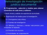 metodolog a de investigaci n juridica documental1
