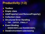 productivity 1 2
