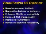 visual foxpro 8 0 overview