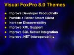 visual foxpro 8 0 themes