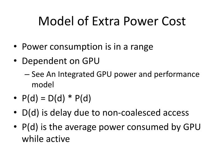 Model of Extra Power Cost