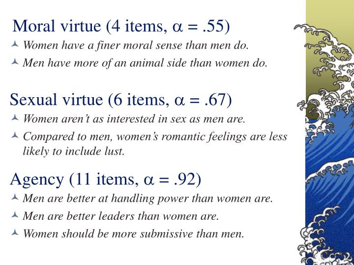 Moral virtue (4 items,