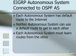 eigrp autonomous system connected to ospf as