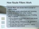 how route filters work