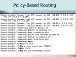 policy based routing