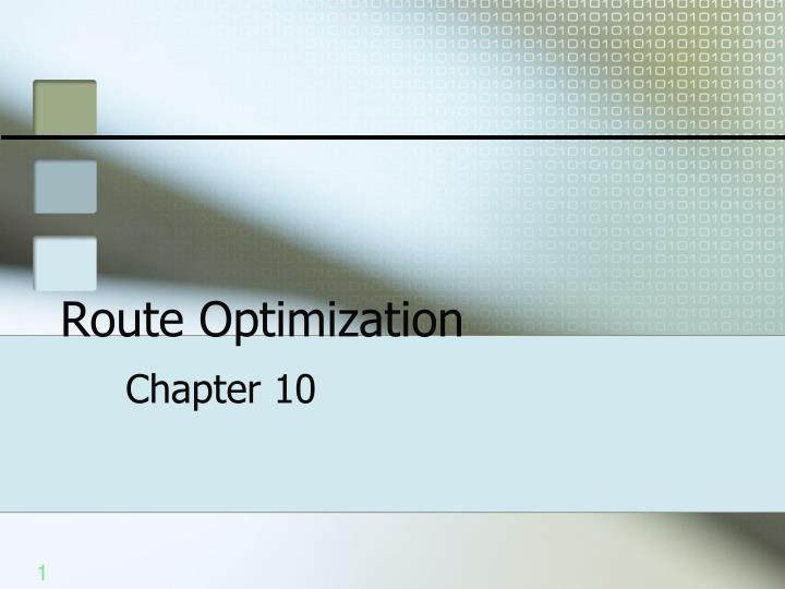 route optimization n.