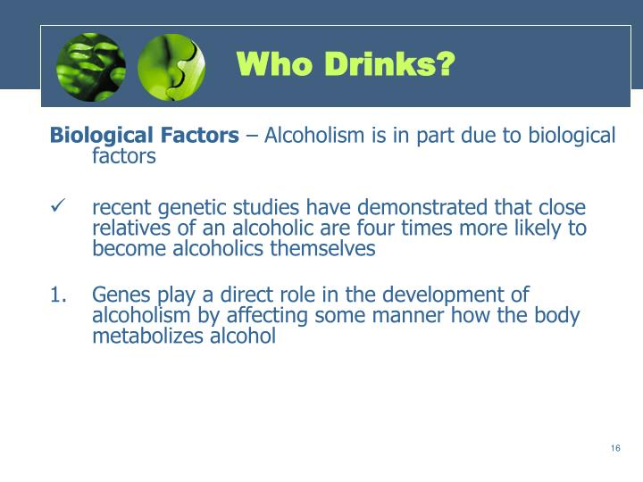 Who Drinks?