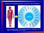 sources de variation internes et externes chez l humain