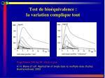 test de bio quivalence la variation complique tout